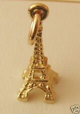 SOLID 9K 9ct Yellow Gold  3D EIFFEL TOWER  PARIS FRANCE Charm/Pendant