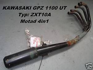 Kawasaki GPZ 1100 UT_ZXT10A_Auspuff_-_Anlage_Motad_4in1