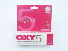 OXY 5 Regular Acne Pimple Cream Medication 5% Benzoyl Peroxide Mild Pimple 25g