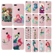 Little Mermaid Princess Cartoon Soft Clear Cover Case For iPhone 7 Plus 6s 5s