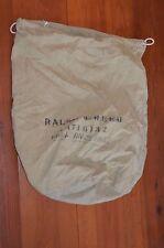Vintage Large WWII ERA army green U.S. NAVY Canvas Duffel Cinch Bag Sack eyelet