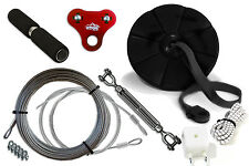 Complete 100' Zip Line Kit w/mini trolley, stop system, cable. E-R100B