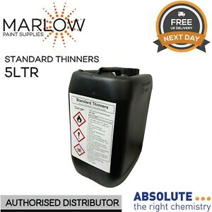 STANDARD THINNERS 5L Spray Gun Parts Cleaner Cellulose Paint Thinner 5LTR