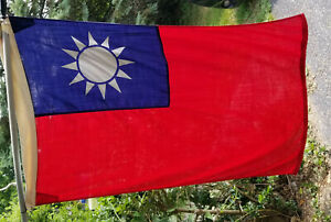 US MILITARY CONTRACT:TAIWAN Flag 3 x 4ft Nylon/Wool Outdoor Service Valley Forge