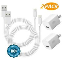 Boost Chargers 2-Pack Charging Cable Cords and 2-Pack USB Wall Adapter Power ...