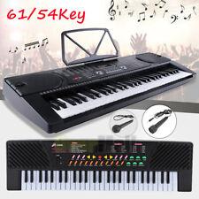 61/54Key Full Size Electronic Piano Keyboard Electric LCD Audio Input MP3 Music