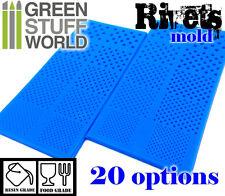 PACK x2 Moldes de Silicona REMACHES - Molde Goma tornillos tuercas resina