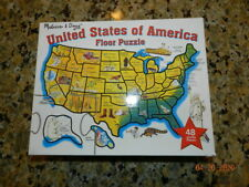US of American,USA States Jumbo/large Floor Puzzle Jigsaw 48 Pieces Melissa Doug