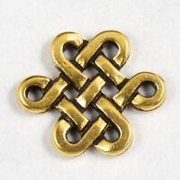 9mm x 11mm Antique Gold Tierracast Pewter Celtic Eternity Knot Link #CK058