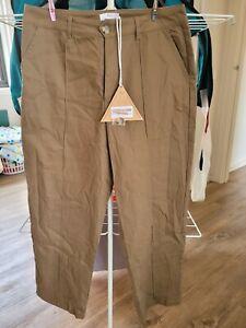 Ladies seven wonders Pants Size 14 Khaki New With Tags Cotton mix