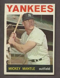 MICKEY MANTLE 1964 TOPPS BASEBALL #50 NEW YORK YANKEES HOF NM-MT NICE