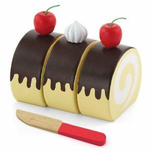Viga Wooden Pretend Toys - Kitchen Food - Swiss Roll