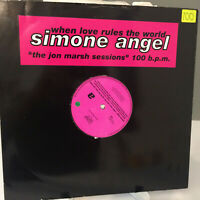 "Simone Angel - When Love Rules The World (Jon Marsh Mixes) 1991 UK Vinyl 12""  NM"