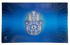 V Syndicate Rolling Tray-Glass (Hamsa Blue) 6.25'' x 10''