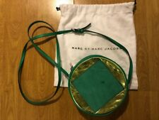 Marc By Marc Jacobs Round Green Gold Square Suede Patch Shoulder Cross Body Bag