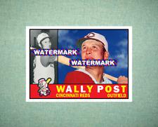 Wally Post Cincinnati Reds 1960 Style Custom Art Card