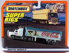 Matchbox Super Rigs Coca-Cola Convoy Tractor Trailer Truck New On Card 1998