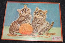 1955 Milton Bradley APTITUDE TESTED TRAY PUZZLE Cats 28 PIECES