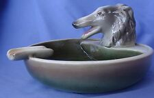 BORZOI CIGAR ASHTRAY GOLDSCHEIDER 7""