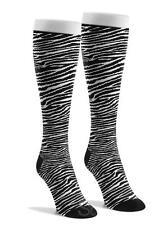 Zebra Knee High Animal Print Black White Novelty Cotton Women Socks Costume Hero