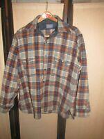 Vintage Pendleton Virgin Wool Thick Plaid Shirt Jacket Coat Heavy SZ XL