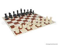 "DGT Tournament Chess Set - Chess Board B/rown 20"" + DGT Chess Pieces 3,75"" B/W"
