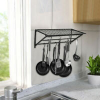 Kitchen Saucepan Pot Pan Rack Hanger Wall Mounted Hanging Storage Shelf Holder