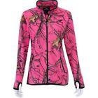 BRAND NEW! Ladies Full Zip PINK  Micro Fleece CAMO Mossy Oak Jacket S M L XL