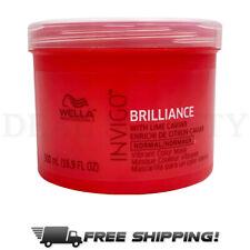 Wella INVIGO Brilliance Vibrant Color Safe Hair Mask for NORMAL Hair 16.9 oz
