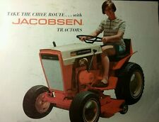 Jacobsen Super Chief 1200 Lawn Garden Tractor Color Sales Brochure 8pg Ford 120