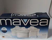 Mavea Water Filter Cartridges 3 Pack Tassimo Bosch 1001122 New Open Box