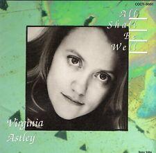 Virginia Astley All Shall Be Japan CD 10 Trx 1992 Indie Pop Folk Ambient No Obi