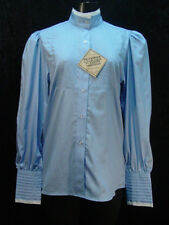 Victorian Blue Alma Blouse Frontier Classics Pioneer Old West Free Brooch S-3X