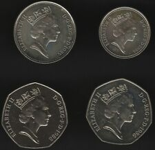 More details for elizabeth ii five, ten & fifty pence coins from sets   pennies2pounds