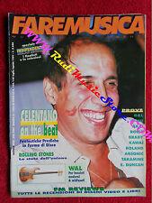 Rivista FARE MUSICA 125/1991 Adriano Celentano Rolling Stones Green On Red Nocd
