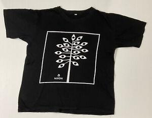Nixon Men's Size L Black Graphic Tshirt Eye Tree graphic