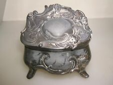 ORNATE ANTIQUE ART NOUVEAU WEIDLICH BROS. FRENCY GRAY FOOTED TRINKET BOX #384!
