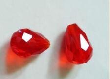 "Wholesale 8x12mm Red Crystal Teardrop Gems Loose Beads 15"" JL0847"