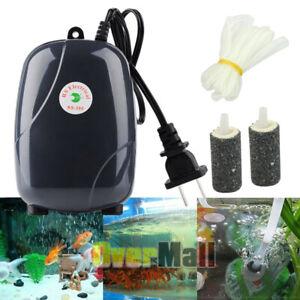 300 Gal Adjustable Silent Air Pump Hydroponic Large Aquarium Fish Tank 4 outlet