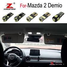 11x LED license plate + interior light + Reverse Bulb for Mazda 2 Demio DJ 2014+