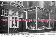 NF 363 - J.Bower, Caterer & Confectioner, Church Street, Cromer, Norfolk