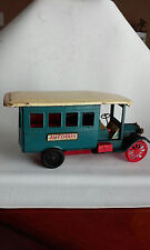VINTAGE TIN FRICTION OLD TIMER AUTOBUS CRAGSTON DISPLAY, REPAIR OR PARTS