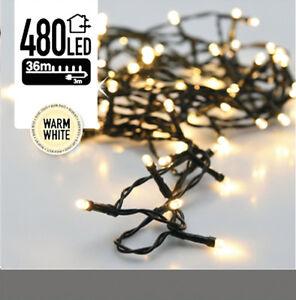 LED-Lichterkette - 480 LED - Warm Weiß - 39m