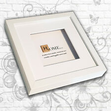 'Home' inspirational quote Art Box Frame (Grey/White) - Mother/Sister/Daughter