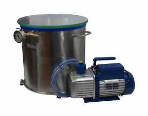 Set for wood stabilizing vacuum chamber 50.0l + dual stage vacuum pump 283l/min