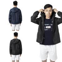 Mens Windbreaker Jacket Adjustable Hood Waterproof Coat Fishing Sport Running YJ