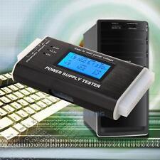 PC Computer Power Supply Tester 20 Pin Sata LCD HD ATX BTX Voltage Test Source