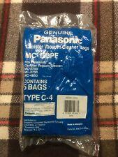 Genuine Panasonic Paper Vacuum Bags Style C-4 #AMC94K-CQOOU (5 Pack)