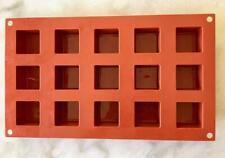 Silikomart Silicone Bakeware Square Cube Mold 1.4 Oz, Gummie 3 pcs.