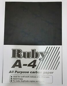 A4 CARBON PAPER SHEETS HANDCOPY BLACK - 5, 15 OR 35 Sheets